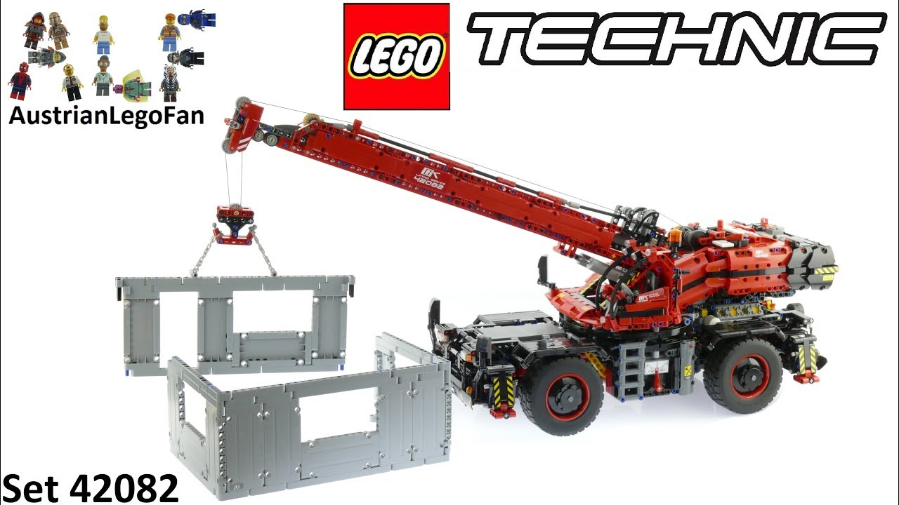 Lego Technic 42082 Rough Terrain Crane Lego 42082 Speed Build