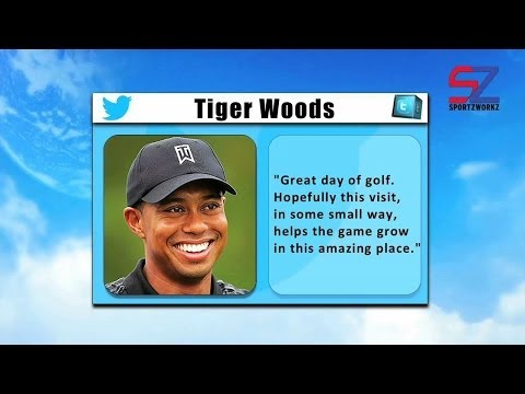 Great day of golf in india - Tiger Woods