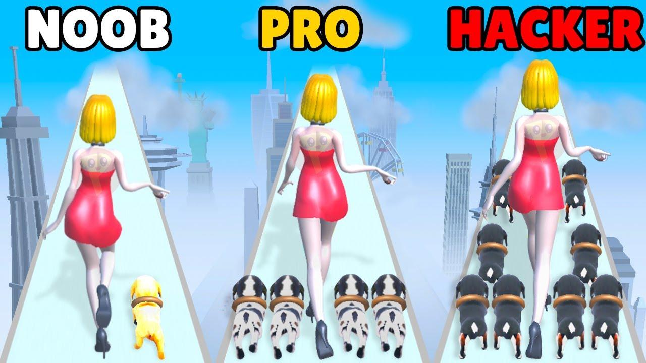 NOOB vs PRO vs HACKER in Puppy Rush 3D