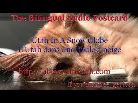 Utah In A Snow Globe - Your bilingual postcard