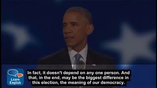 learn English  by  conversations and topics | President Obama 3 With subtitle