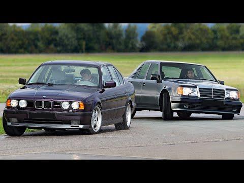 BMW M5 E34 против Mercedes 500E/E500 W124 Непосильная битва!