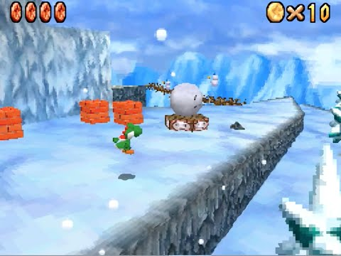 Super Mario 64 DS: Cool Cool Mountain (Frosty Slide for 8 Red Coins) [HD]