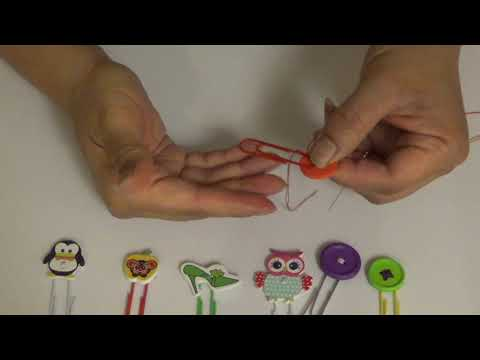 DIy Button Paperclips
