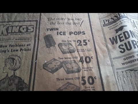 Vintage Newspaper Ads From The Abandoned Farmhouse