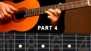 Guitar lesson Yiruma River flows in you solo Part2