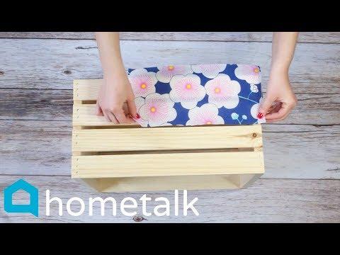 Dollar Store Napkin Hack | Grab 2 Michaels crates for these gorgeous storage ideas! | Hometalk