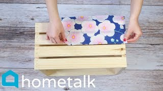 Dollar Store Napkin Hack | Grab 2 Michaels crates for these gorgeous storage ideas! | Hometalk