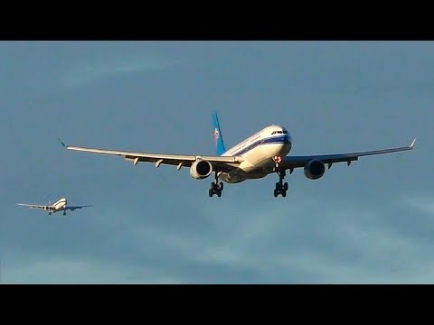 BACK TO BACK LANDINGS | 2 China Southern Airbus A330-300s ● Melbourne Airport Plane Spotting
