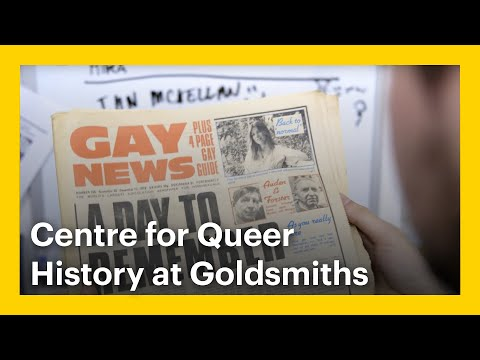 Centre For Queer History At Goldsmiths