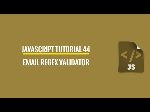 Javascript Tutorial 44: Simple Email Parser Regular Expression