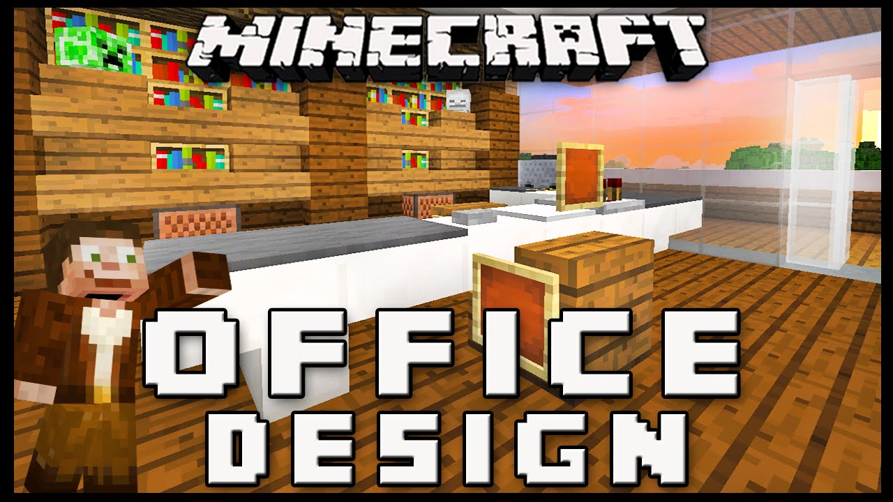 minecraft how to make furniture for an office modern house build ep 15 pictures a