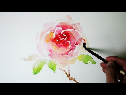 How to paint a rose in watercolor jayart youtube for How to paint a rose in watercolor step by step
