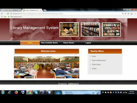 Library Management System Java Project