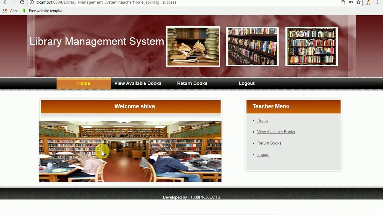 Library Management System Java Project Youtube