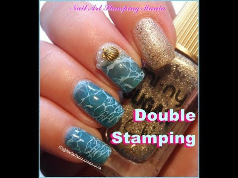 Ocean Manicure with Double Stamping Technique - Tutorial