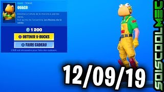BOUTIQUE FORTNITE 12 SEPTEMBER 2019, NEW SKINS, ITEM SHOP SEPTEMBER 12, 2019
