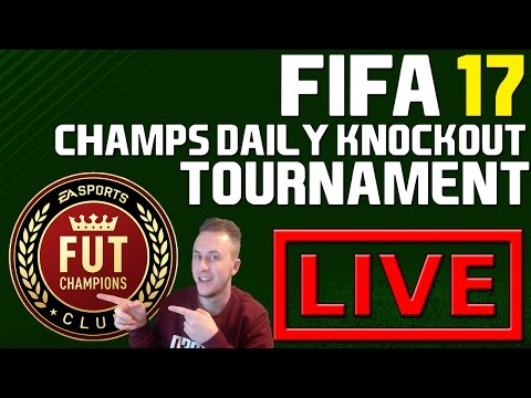 FIFA 17 CHAMPS DAILY KNOCKOUT TOURNAMENT ⚽ (LIVE)