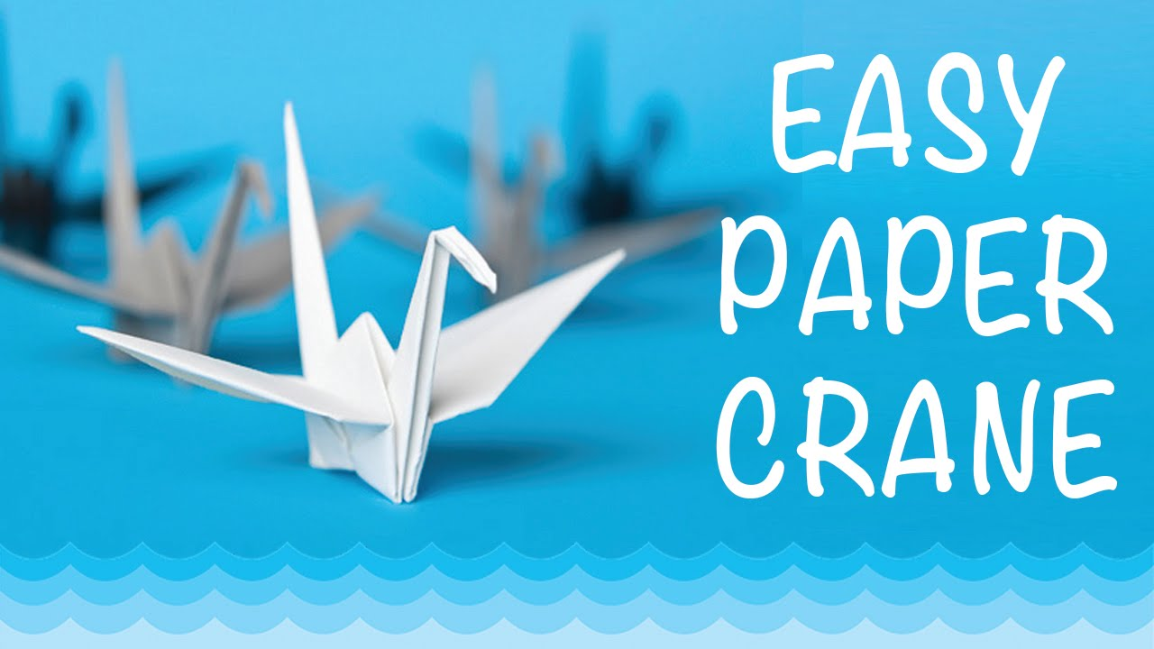 How to make a paper crane origami step by step easy youtube jeuxipadfo Images