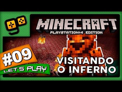 Let's Play: Minecraft PS4 - Parte 9 - Visitando o Inferno