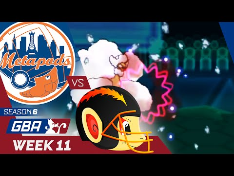 "New York Metapods vs San Diego Chimchargers! Week 11 GBA | ""The Hax Gods!"""