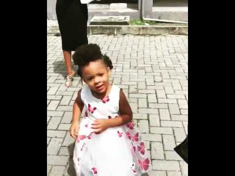 Watch Flavour's Daughter Dance To His Chimamanda Song