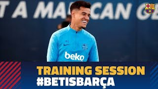 Last workout before the visit to Betis in LaLiga