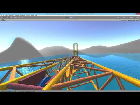 Simulating offshore crane using Unity game engine and AGX Dynamics