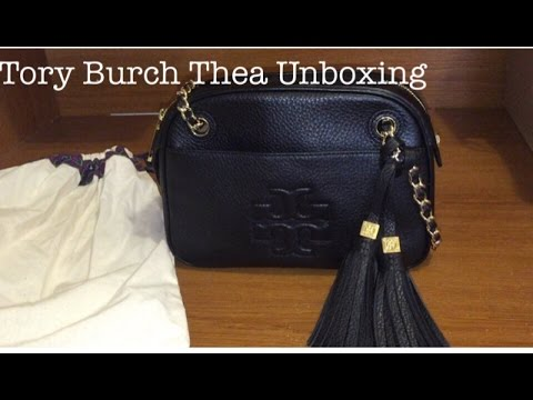 c40f524a1b93 Unboxing   Reveal of my Tory Burch Marion Embossed Patent Shrunken Purse