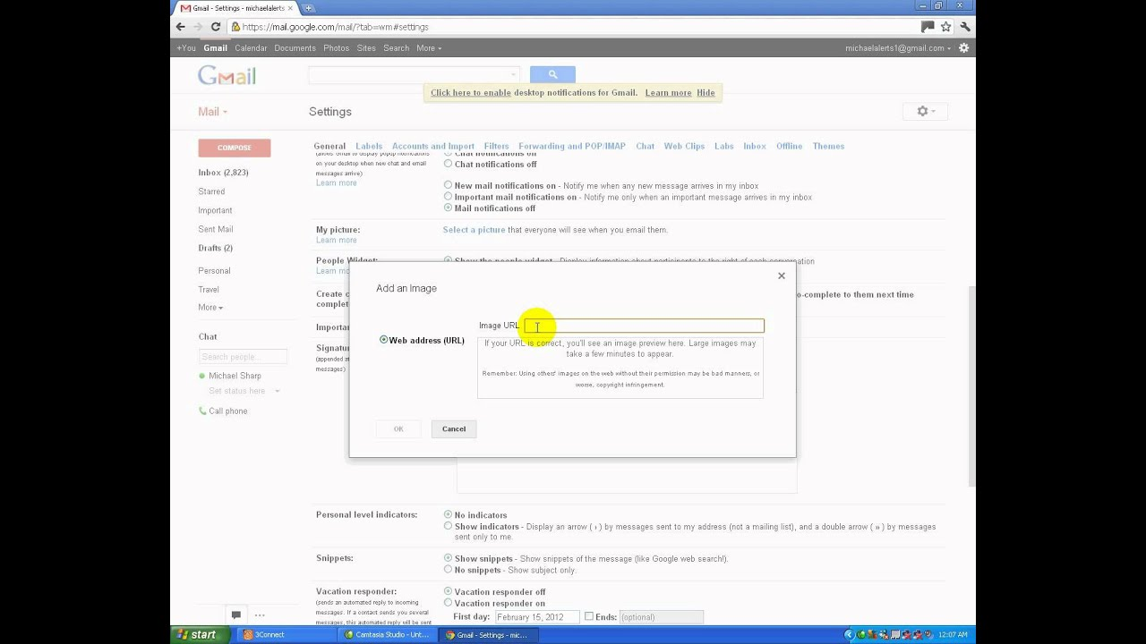 How To Add An Image To Your Email Signature On Gmail. - YouTube