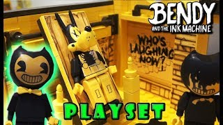 Bendy and the Ink Machine Room Playset LEGO Construction Set Ink Demon Mcfarlane Toys Toy Fair 2018
