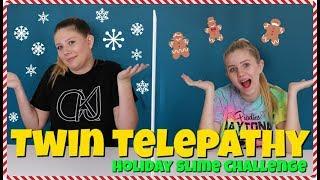 Twin Telepathy Slime Challenge   Sis vs Sis   Taylor and Vanessa