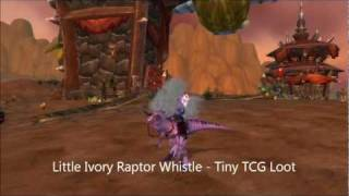 Tiny - WOW TCG Loot Card (Little Ivory Raptor Whistle) - In Game View