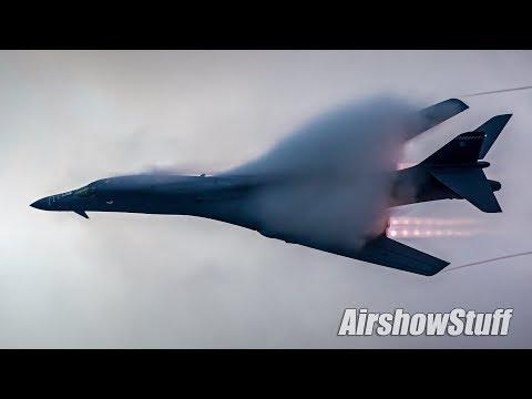 B-1 Twilight Afterburner Flybys - Vaporfest!! - EAA AirVenture Oshkosh 2017