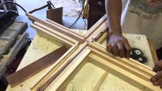 Making a wooden cross