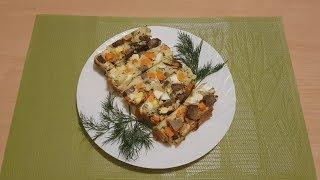 Закусочный пирог с печенью очень вкусно!!!