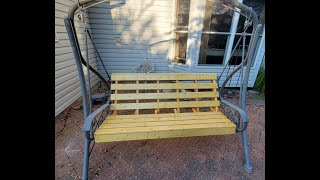 outdoor swing seat replacement