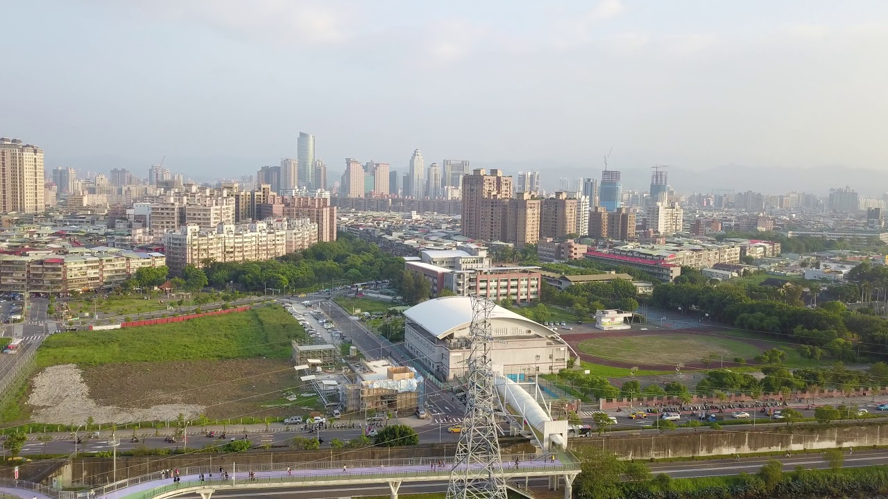 【空拍日記】DJI Drone MAVIC 首航!板橋新月橋/三重疏洪道/大台北都會公園