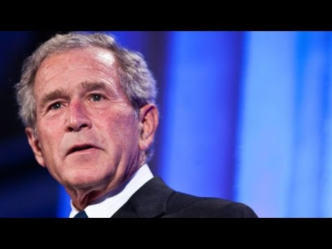 Geore W. Bush offers easy criticism of Trump
