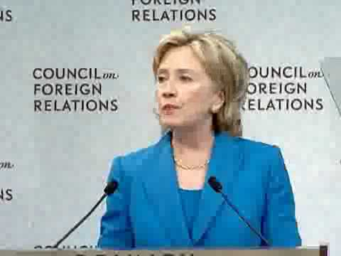 Hillary Clinton accidentally admits that the CFR runs this nation.  Wow.