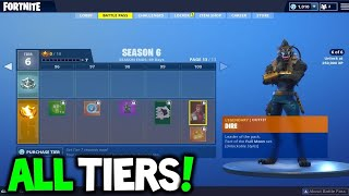 Fortnite | GET 35 TIERS FOR FREE / WEEK 3 CHALLENGES GLITCH /SEASON 6 / 200 stars for free