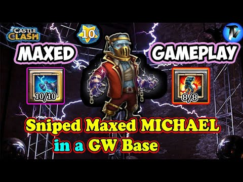 Castle Clash - Maxed Creation-01 Gameplay | Checkout New Hero's Abilities In Maxed Mode