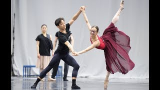Cinderella: Jeffrey Cirio and Katja Khaniukova in rehearsals | English National Ballet