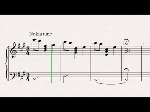 nokia tune piano sheet