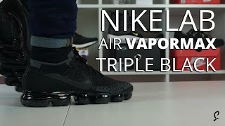 Triple Black NikeLab Air VaporMax Review / Unboxing