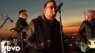 "U2 performing ""Invisible"" live atop 30 Rock in New York, NY on 'The..."