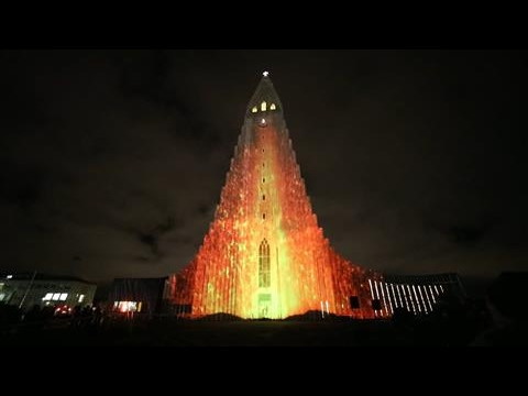 Reykjavik Illuminated by Winter Lights Festival