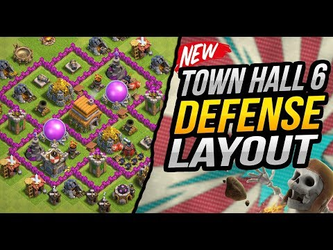 Clash Of Clans Town Hall 6 (TH6) Trophy/War Base 2018
