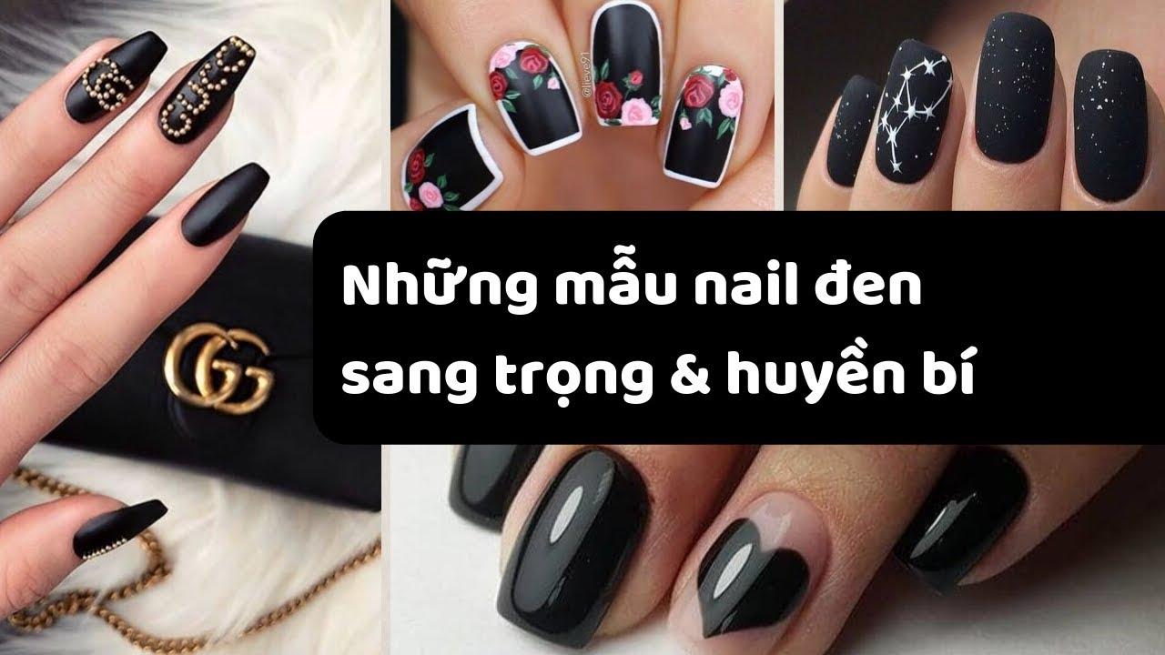 Những mẫu nail đen sang trọng và huyền bí