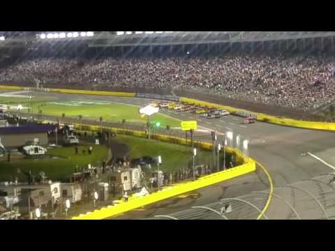 Crash at the all star race at Charlotte motor speedway